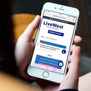 We accommodated LiveWest's new website